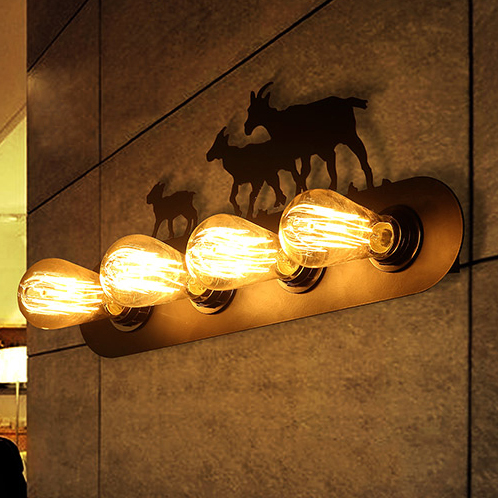 American country horse sheep wall lamps european vintage wall lights american country horse sheep wall lamps european vintage wall lights fixture home indoor lighting cafes pub mozeypictures Image collections
