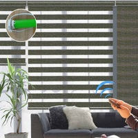Customized Manual / Motorized Curtains Electric Zebra Roller Blinds For Windows
