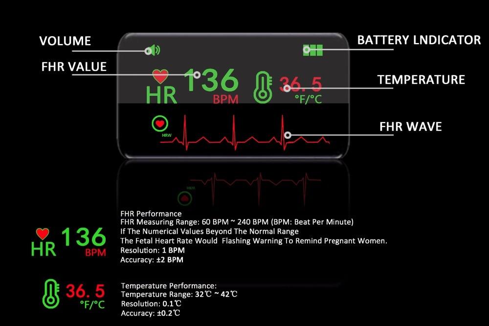profissional premium 2 mhz, anjo gravidez portátil