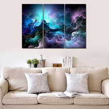 Purple Landscape Poster Art Print Psychedelic Space Cloud Abstract Wall Canvas Painting for Living Room Home Decor