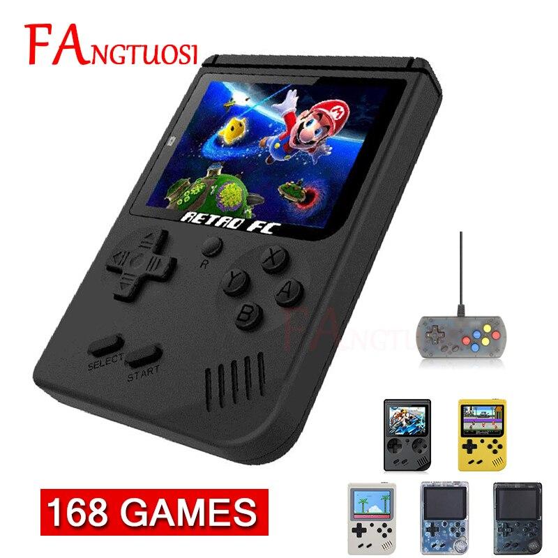 Fangtuosi mini console de jogos de vídeo embutido 168 clássico nostálgico jogador retro 8 bits bolso handheld jogador de jogo