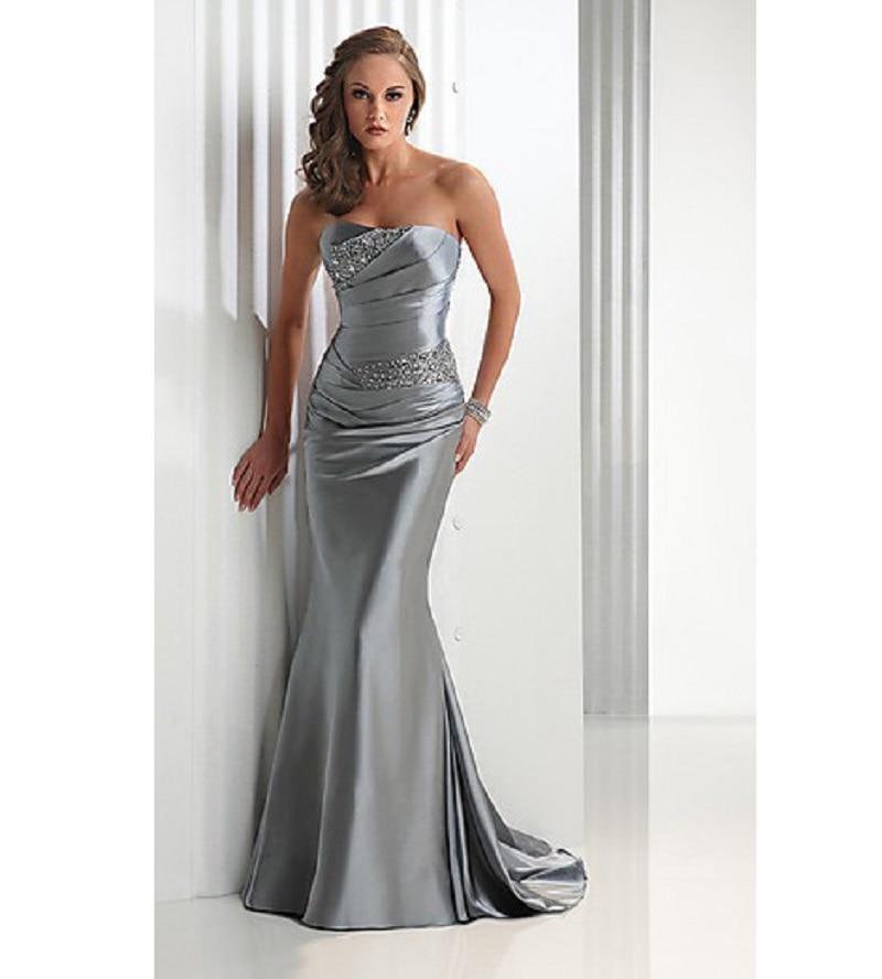Popular Strapless Satin Dress-Buy Cheap Strapless Satin Dress lots ...