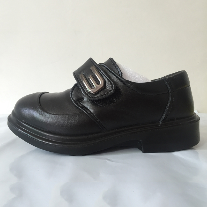 ФОТО Boys Genuine Leather Shoes Cow muscle sole Oxford Footwear 16 to 23cm meninos sapatos de couro Kids Formal shoes