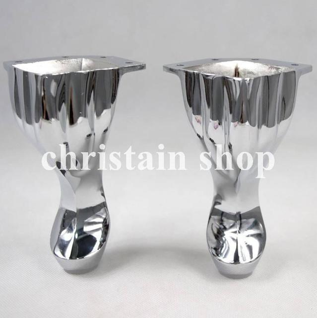 5 6 Set Metal Furniture Cabinet Legs Tea Table Bed Chair Sofa Leg Feet 4pcs