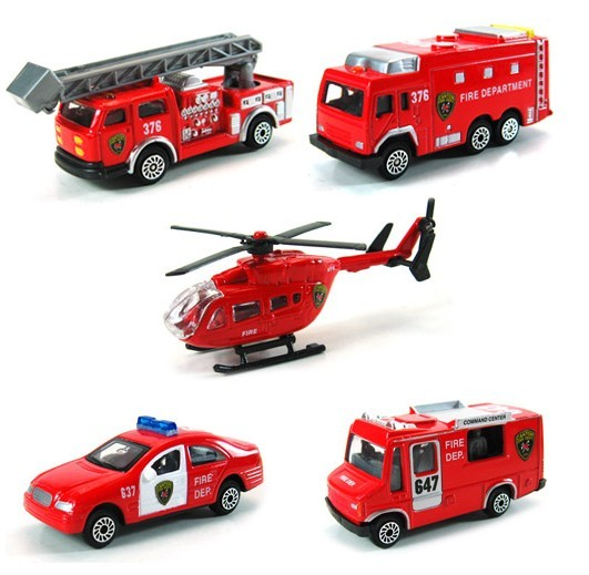 Children's Toys 1:64 Helicopter Aerial Fire Truck Series