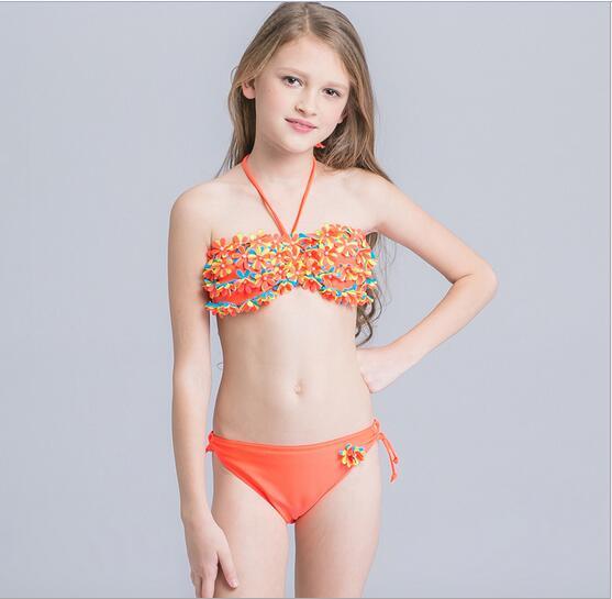 3a9e0ab71138f Girl Bikini Baby 2 Piece Swimsuit 2017 New Girls Swimwear Cotton Kids  Swimwear Baby Girl Swim Suits