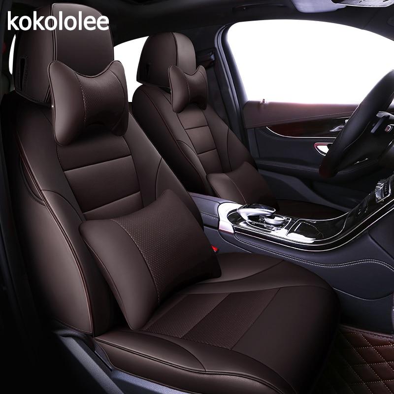 Kokololee auto personalizado real couro tampa de assento do carro para bmw e90 x1 x5 x6 e36 e39 e46 e53 e60 f11 x3 e83 f30 Tampa de Assento de Automóveis