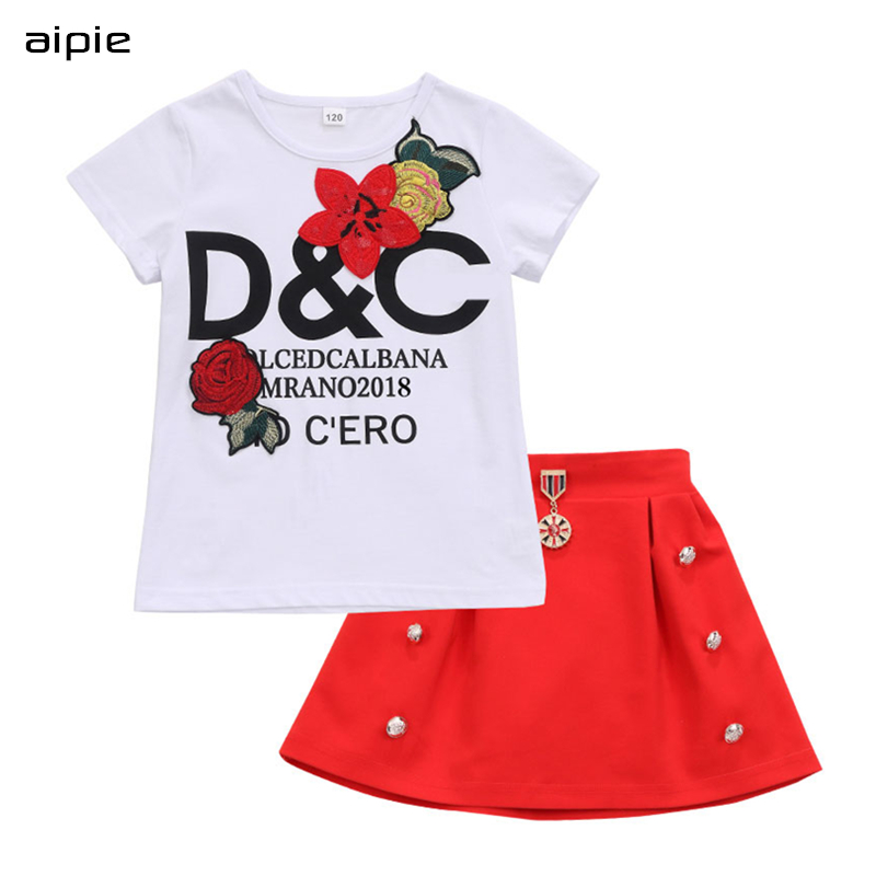 Children, Girls, For, T-shirt, Clothing, Flowers