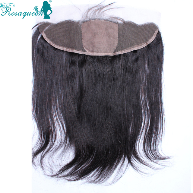 Silk Base Frontal Closure 7A Straight Brazilian Hair Closure Full Frontal Lace Closure 13x4 Ear to Ear Lace Frontal Baby Hair