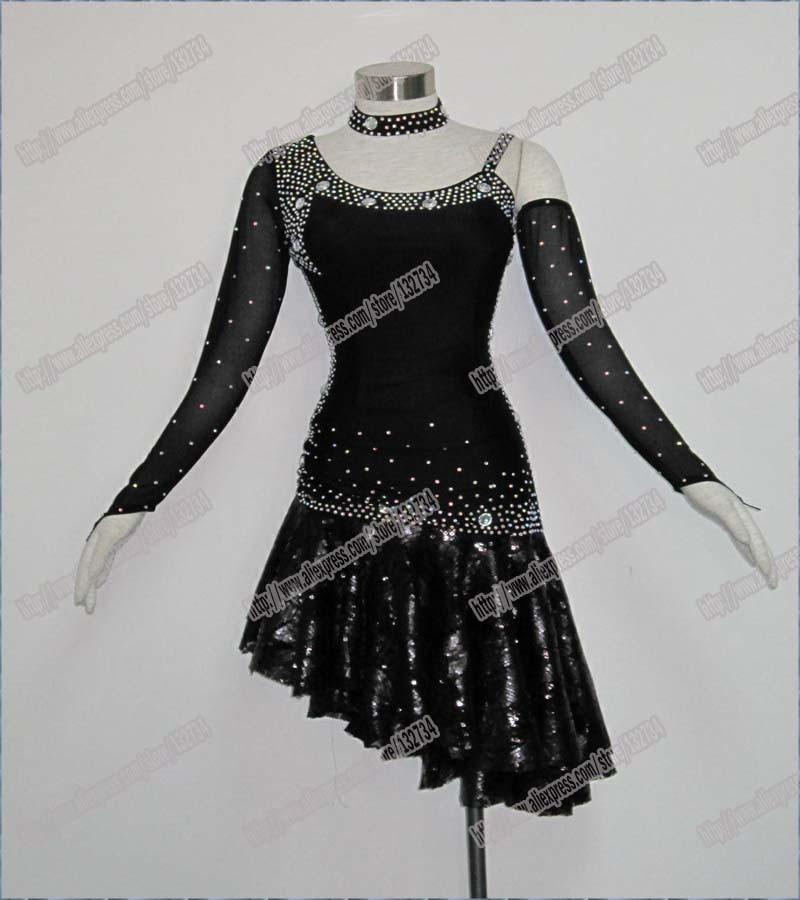 Hot-Selling, Dámské Latinské Šaty, Nové Soutěžní okrajové Latinské taneční šaty, Salsa šaty, Společenské šaty, Dívčí tanec Latinské L-0046