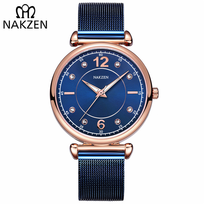 NAKZEN Fashion Women Quartz Watch Stainless Steel Ladies Watch Luxury Exquisite Women's Watches reloj mujer relogio feminino mulilai watch women fashion luxury watch reloj mujer stainless steel quality formal ladies quartz watch women student rome watch