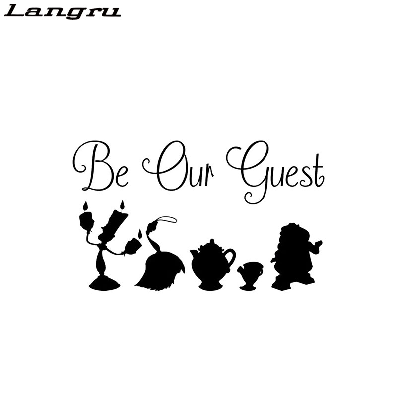 Child On Board Car Camper Window Vinyl Sticker Decal WHITE Beauty And The Beast