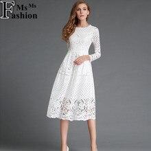 New European 2016 Spring Women s Lace Hollow Out Long font b Dresses b font Bohemian