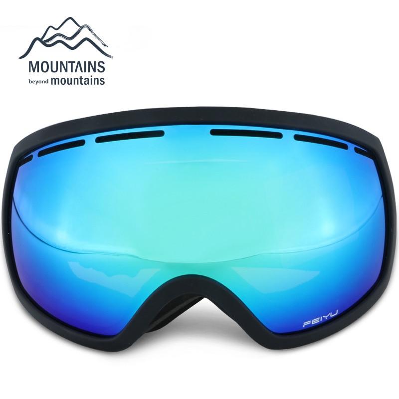 f5c63e4a5fed1b Être Agréable À Double Lentille UV400 Anti-Brouillard Grand Sphérique Ski  Lunettes Hiver Sport De Protection Snowboard Ski Lunettes Lunettes Lunettes