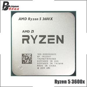 Image 2 - AMD Ryzen 5 3600X R5 3600X 3.8 GHz Six Core Twelve Thread CPU Processor 7NM 95W L3=32M  100 000000022 Socket AM4 new but no fan