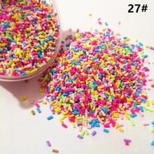 1KG Slime Clay Sprinkles Filler DIY Supplies Candy Fake Cake Dessert Mud Decoration Slices Toys Accessories