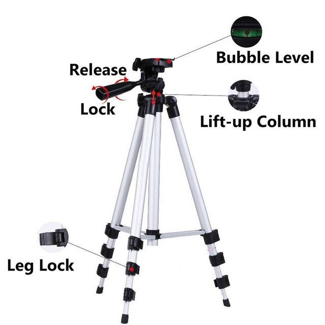35 100ซม.ขาตั้งกล้องกล้องผู้ถือโทรศัพท์มือถือMount Tripeขาตั้งคลิปสำหรับiPhone 11 12 Pro Max X XS 6 S 7 8 Plusบลูทูธ