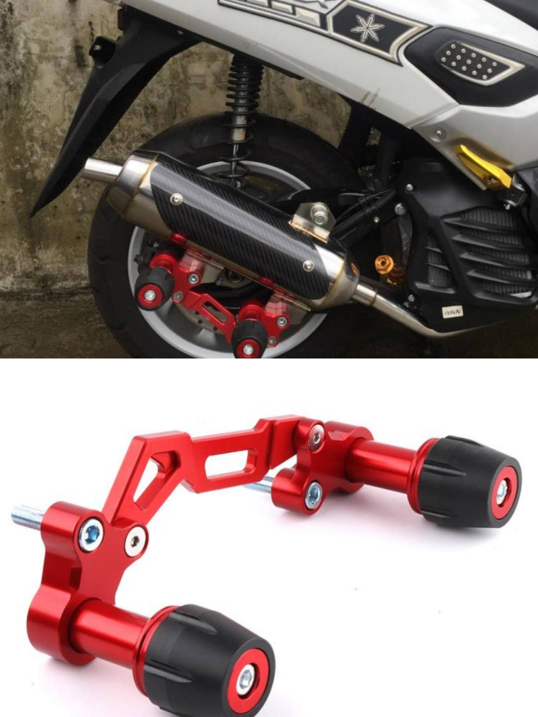 For Yamaha NVX NMAX 155 XMAX 300 PCX 125 Forza Lexi Universal Motorcycle Adjustable Exhaust Pipe