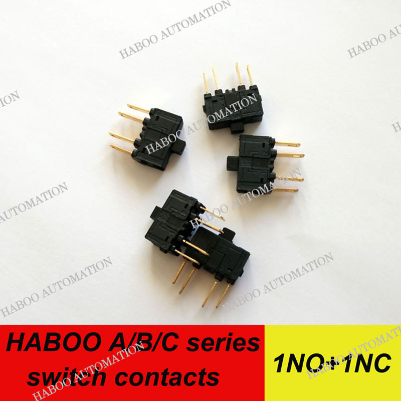 1pcs shipping free for the switch. HABOO A/B/C series push button switch 1NO+1NC terminal contacts silver plated gold