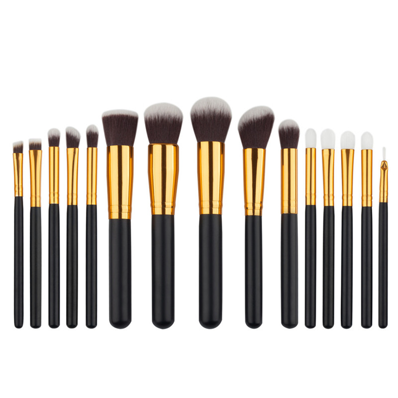 15pcs/set Maquiagem Makeup brushes Beauty Cosmetics High Quality Foundation Blending Blush Make up Brush tool Kit Set