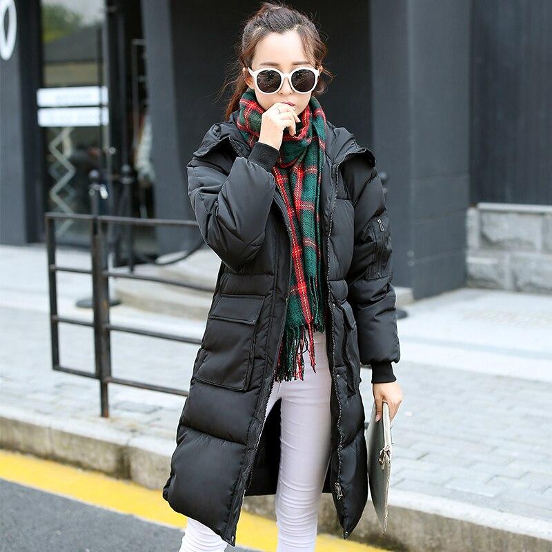 Kadınlar Için 2016 Sıcak Aşınma Ceketler Sonbahar Kış Coat Kadın İnce Uzun Pamuk-yastıklı Ceket Kadın Kış Parkas Coats dy0107