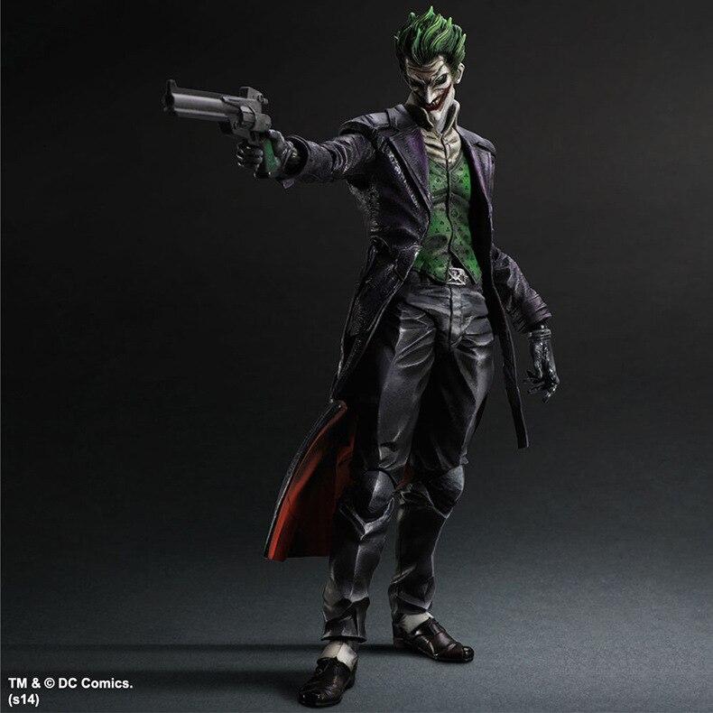 Elsadou 26cm Play Arts PA Arkham Origins The Joker Action Figure Toy Doll Collection neca dc comics batman arkham origins super hero 1 4 scale action figure