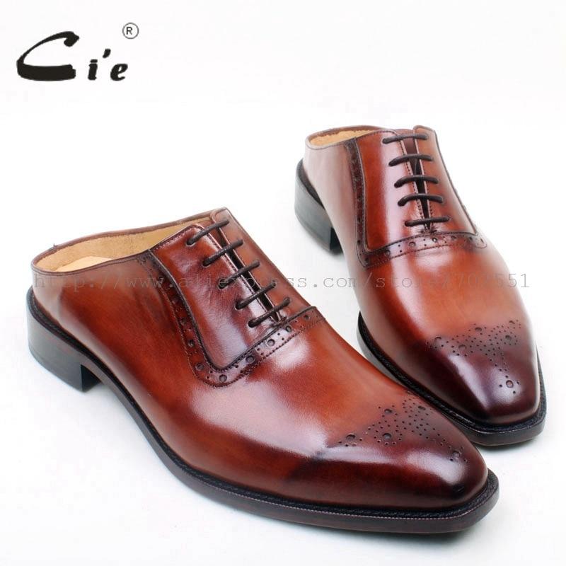 Ayakk.'ten Oksford'de Cie Ücretsiz Kargo Özel Ismarlama El Yapımı Captoe erkek Oxford Bağlama Deri Taban Nefes takım elbise deneme ayakkabı terlik OX692'da  Grup 1