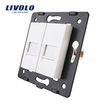 Производство Livolo, аксессуары для настенных розеток, основание телефонной и компьютерной розетки/розетки VL-C7-1TC-11