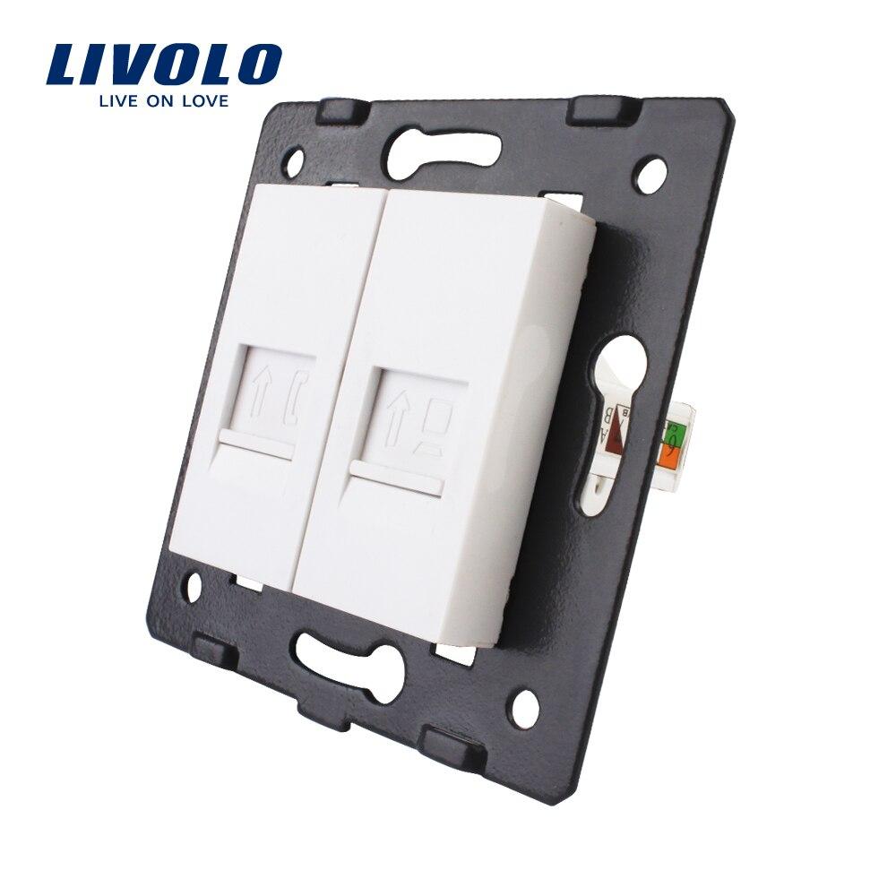 Herstellung Livolo, Steckdose Zubehör, Die Basis von Telefon und Computer Sockel/Outlet VL-C7-1TC-11