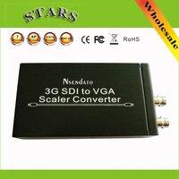 3G SDI naar VGA Scaler Converter Audio Video SDI naar VGA met adapter Voor CCTV PC Video, groothandel gratis verzending dropshipping
