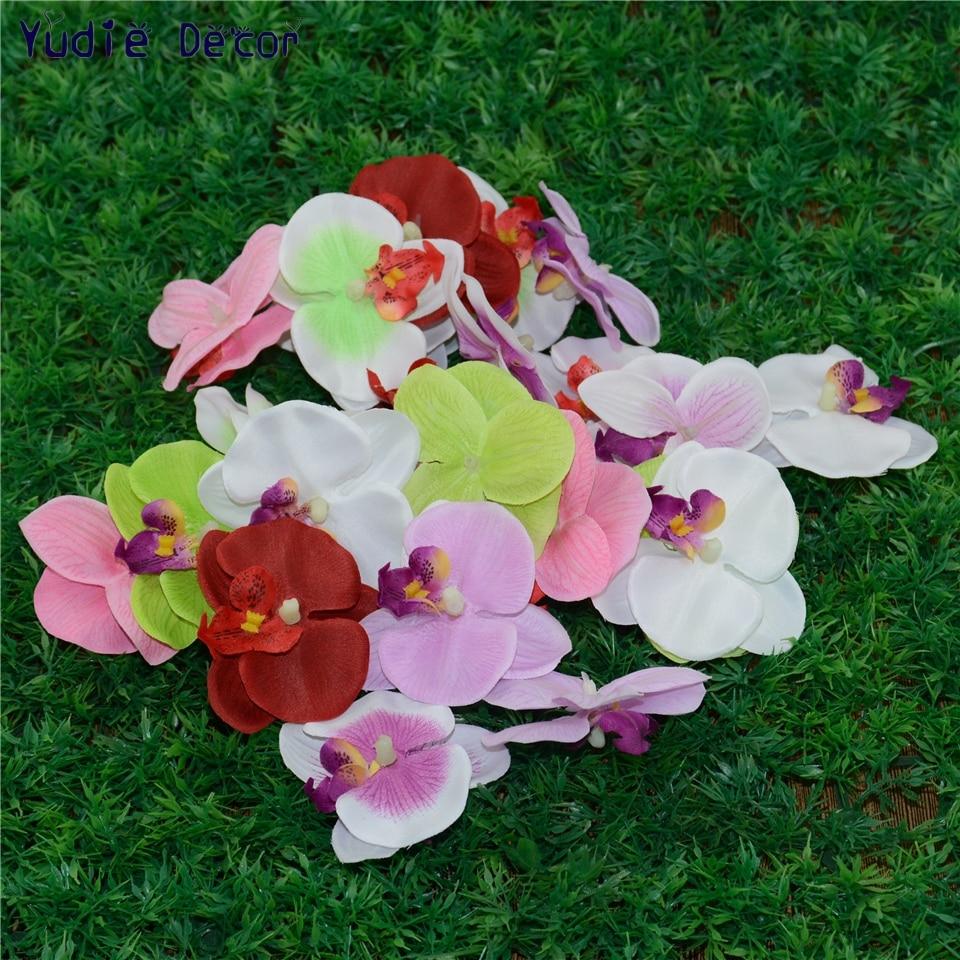 100pcs Wholesale Silk Butterfly Orchid Artificial Flower