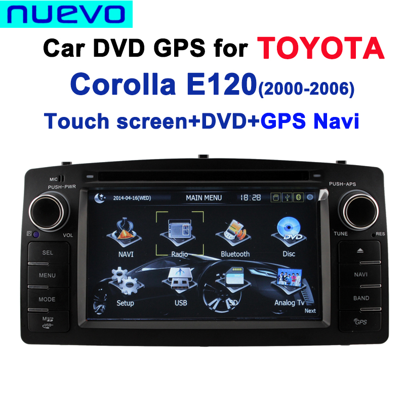 double din car dvd gps for toyota corolla e120 2000 2006. Black Bedroom Furniture Sets. Home Design Ideas