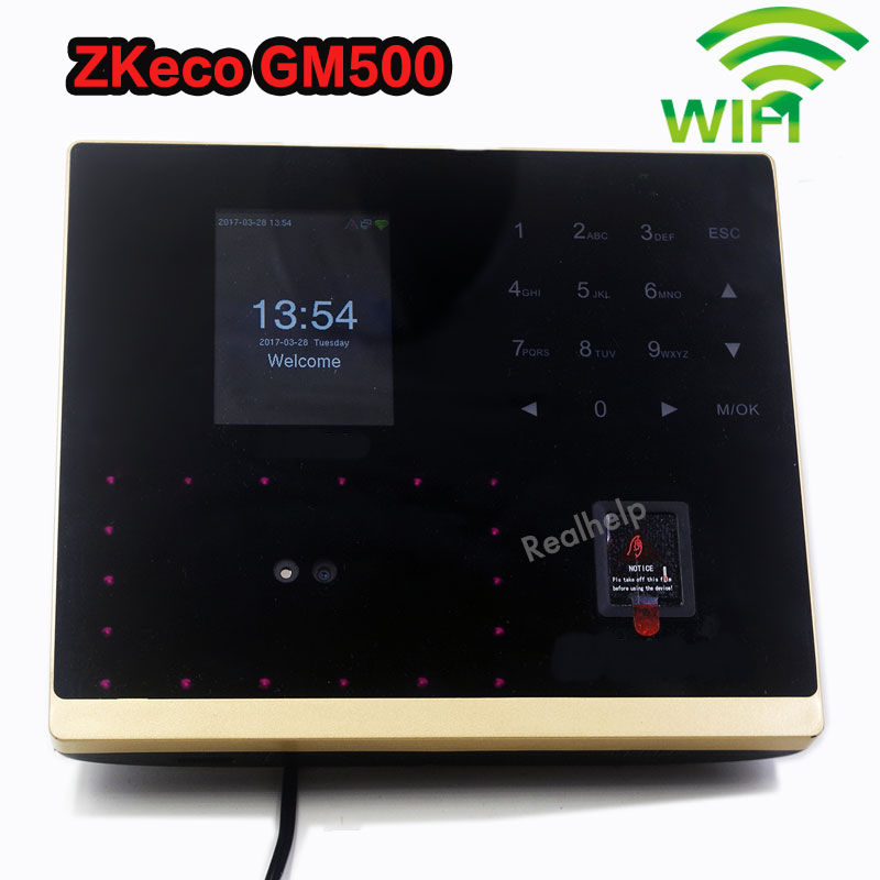 ZK GM500 Biometric Facial Time Attendance System with Access Control TCP/IP Face And Fingerprint Time Attendance Standalone Door zk iface302 fingerprint time attendance with access control tcp ip biometric face fingerprint 125khz rfid card time attendance