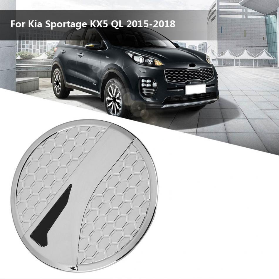 Car ABS Chrome Gas Tank Cap Fuel Filler Door Cover Trim for Kia Sportage KX5 QL 2015-2018 Fuel Tank Cover