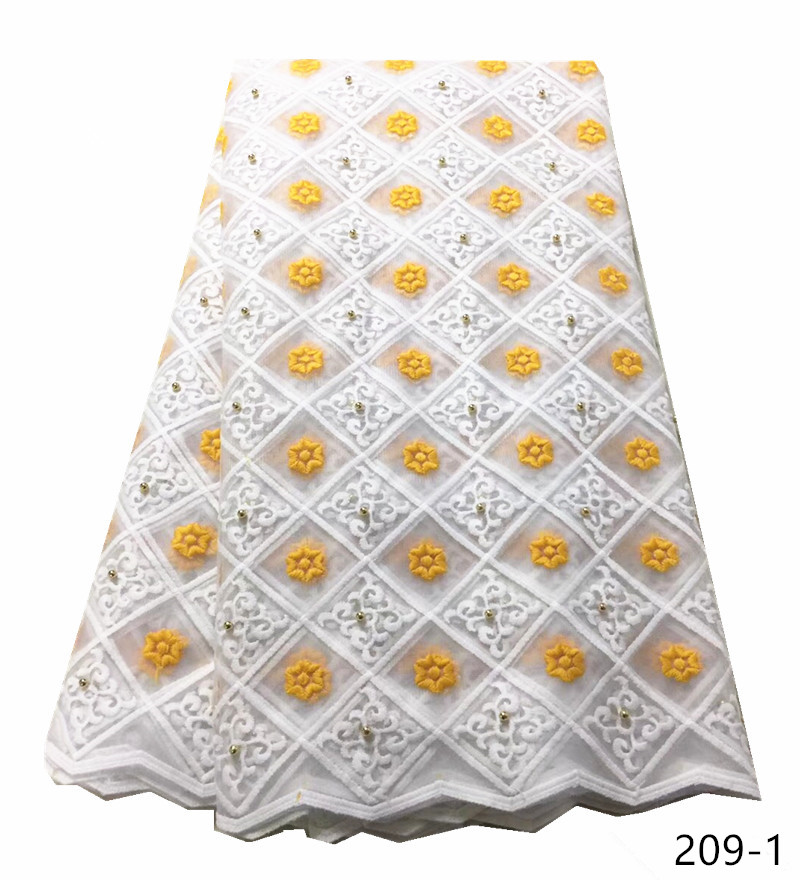 Cheap White Green African Net Lace Fabric And Milk Fiber High Quality French Tulle Lace Fabrics With Beaded For Wedding 209Cheap White Green African Net Lace Fabric And Milk Fiber High Quality French Tulle Lace Fabrics With Beaded For Wedding 209