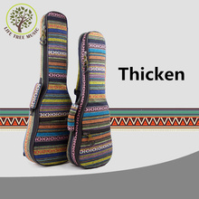 Thicken Soprano Concert Tenor Ukulele Bag Case Backpack 21 23 26 Inch Ukelele Beige Mini Guitar Accessories Parts Gig