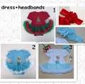 newborn dress romper and headmand toddler girl clothing set infant elsa princess girls christmas dress free shipping