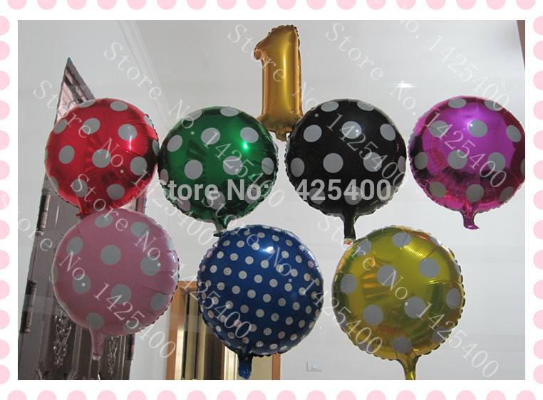 Free shipping 8pcs / lot aluminum balloons toys for children 1 year old birthday