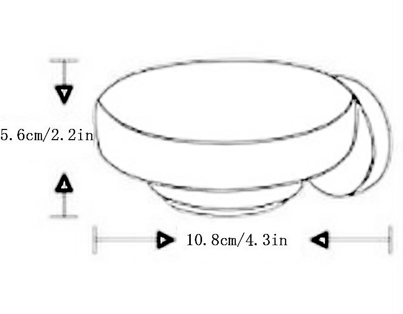 soap dish size