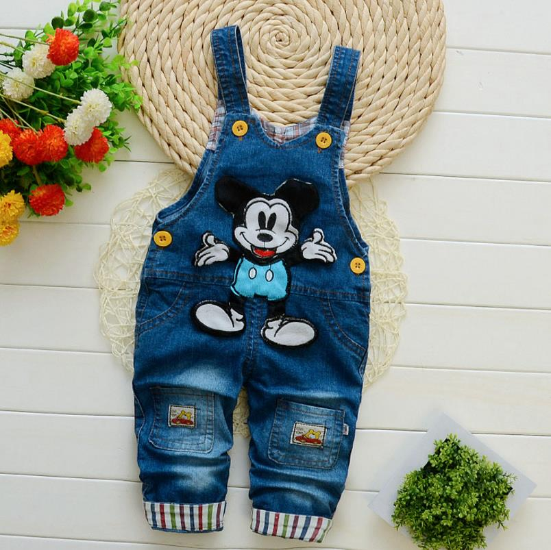Kids Overall Jumpsuits Bib-Pants Girls Newborn Baby Toddler/infant Jeans Boys Autumn