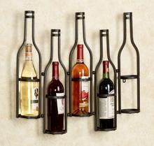 Frame wrought iron wine Wine rack on wall European hanging wine rack