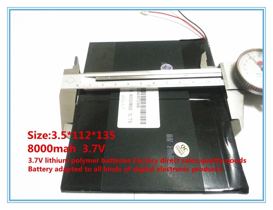 3.7 V, 8000 mAh, polimer lityum iyon / tablet pc için Li-ion pil, - Tablet Aksesuarları - Fotoğraf 3
