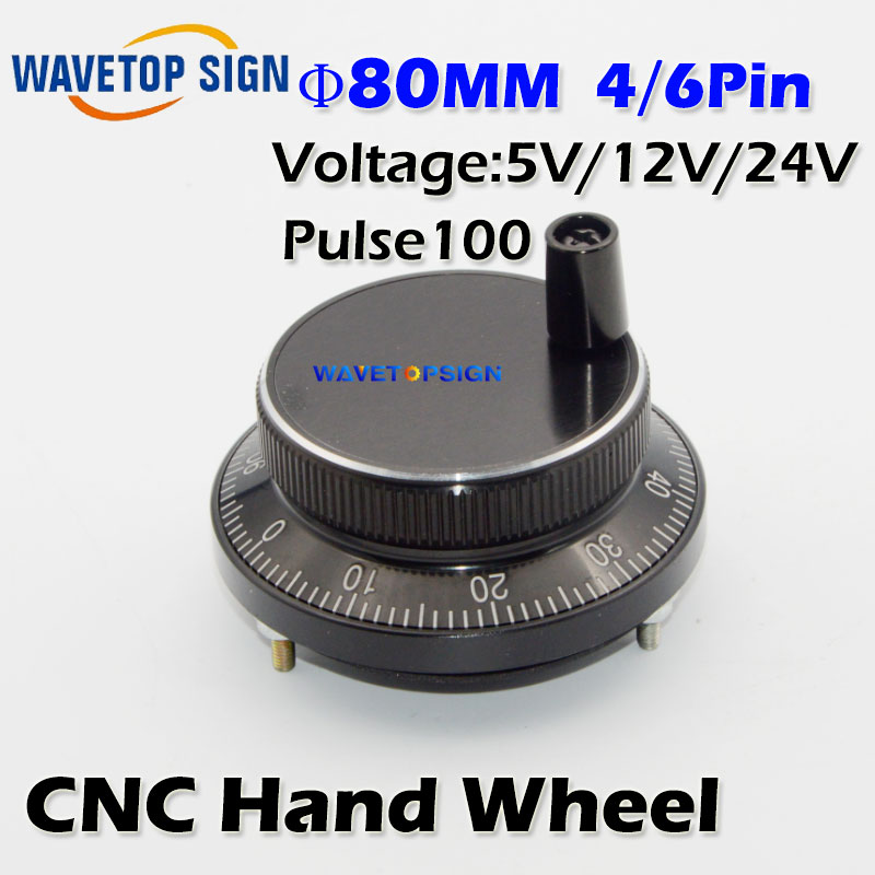 CNC electronic hand wheel black color diameter  80mm Pulse number 100  voltage  5v  12v 24v   number of pins  4  and 6 tosoku japan east side panel type of hand pulse pulse device encoder re45t v