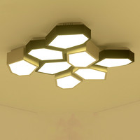Modern Minimalist Geometry Led Acrylic Ceiling Light Creative Personality Living Room Ceiling Lamp Energy Saving AC