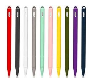 Image 5 - 50 шт. Мягкий силиконовый чехол держатель для Apple Pencil 2 iPencil 2 резиновый чехол для iPad pro ipencil2 защитный чехол