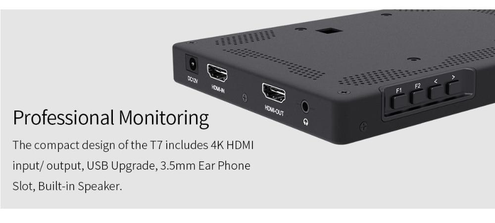 Feelworld T7 7 дюймов ips 1920x1200 HDMI на Камера поле монитор Поддержка 4 K Вход Выход видео монитор для DSLR Canon Nikon sony