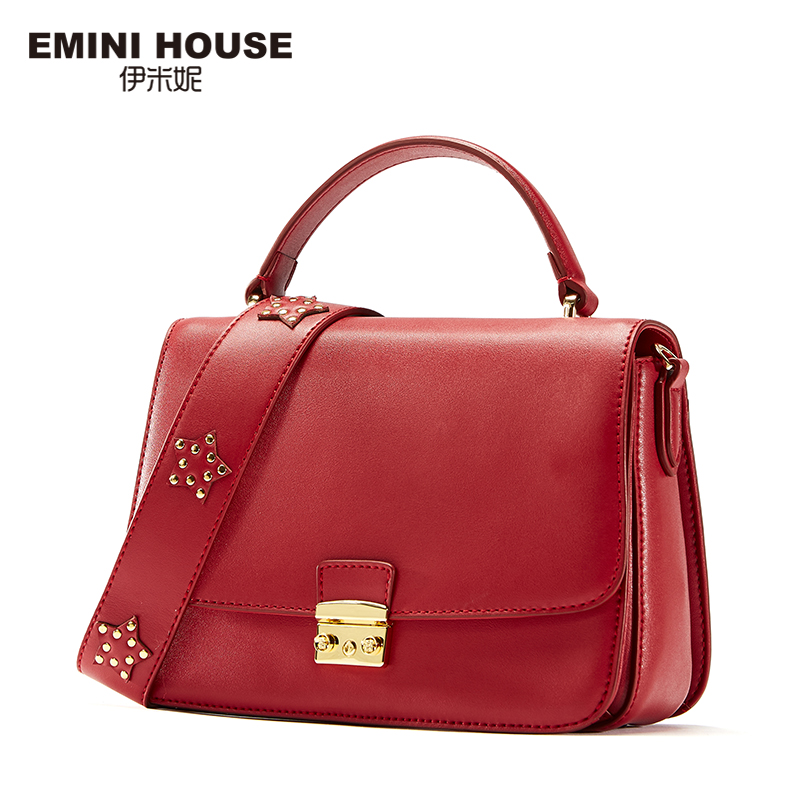 EMINI HOUSE Fashion Padlock Flap Bag Split Leather Bags Handbags Women Famous Brands Lady Shoulder Bag Women Messenger Bags бензогенератор aurora age 2500