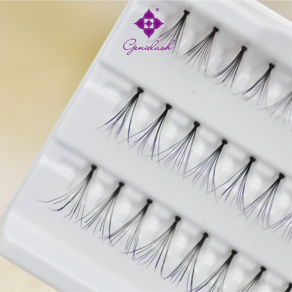 All Length 4 Trays/lot Individual Flare False Eyelash Extensiosn With Knot Best price Make Up Tools