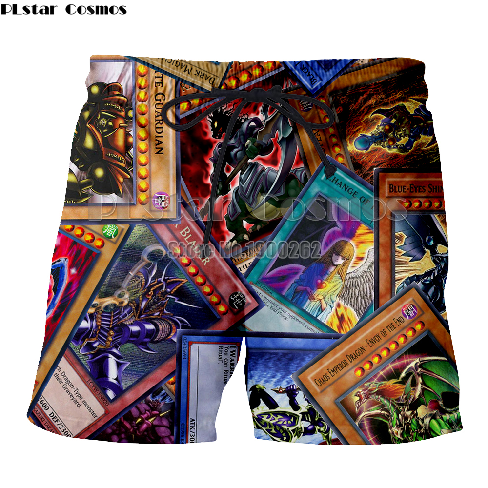 Briljant Plstar Cosmos Anime Yu Gi Oh Monster Kaarten Harajuku Stijl Print 3d Print Cartoon Mens Shorts Print 3d Plus Size S-5xl