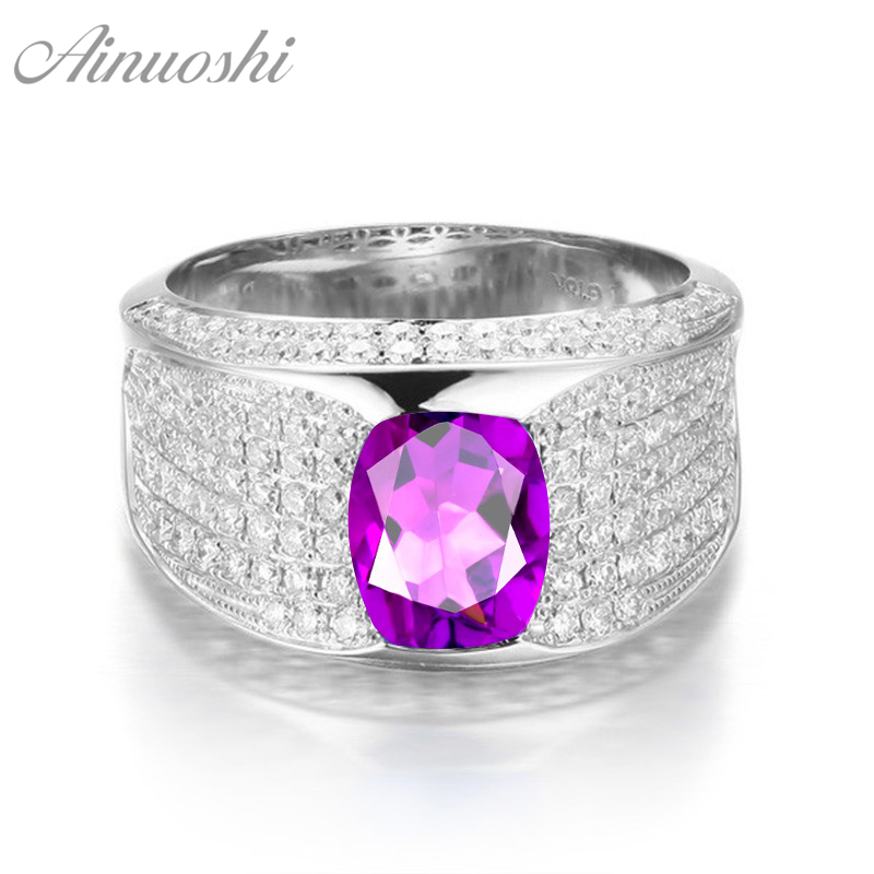 AINUOSHI Natural Amethyst BowKnot Ring Pure 925 Sterling Silver Ring 1.25ct Oval Cut Gemstone Engagement Women Ring Jewelry GiftAINUOSHI Natural Amethyst BowKnot Ring Pure 925 Sterling Silver Ring 1.25ct Oval Cut Gemstone Engagement Women Ring Jewelry Gift